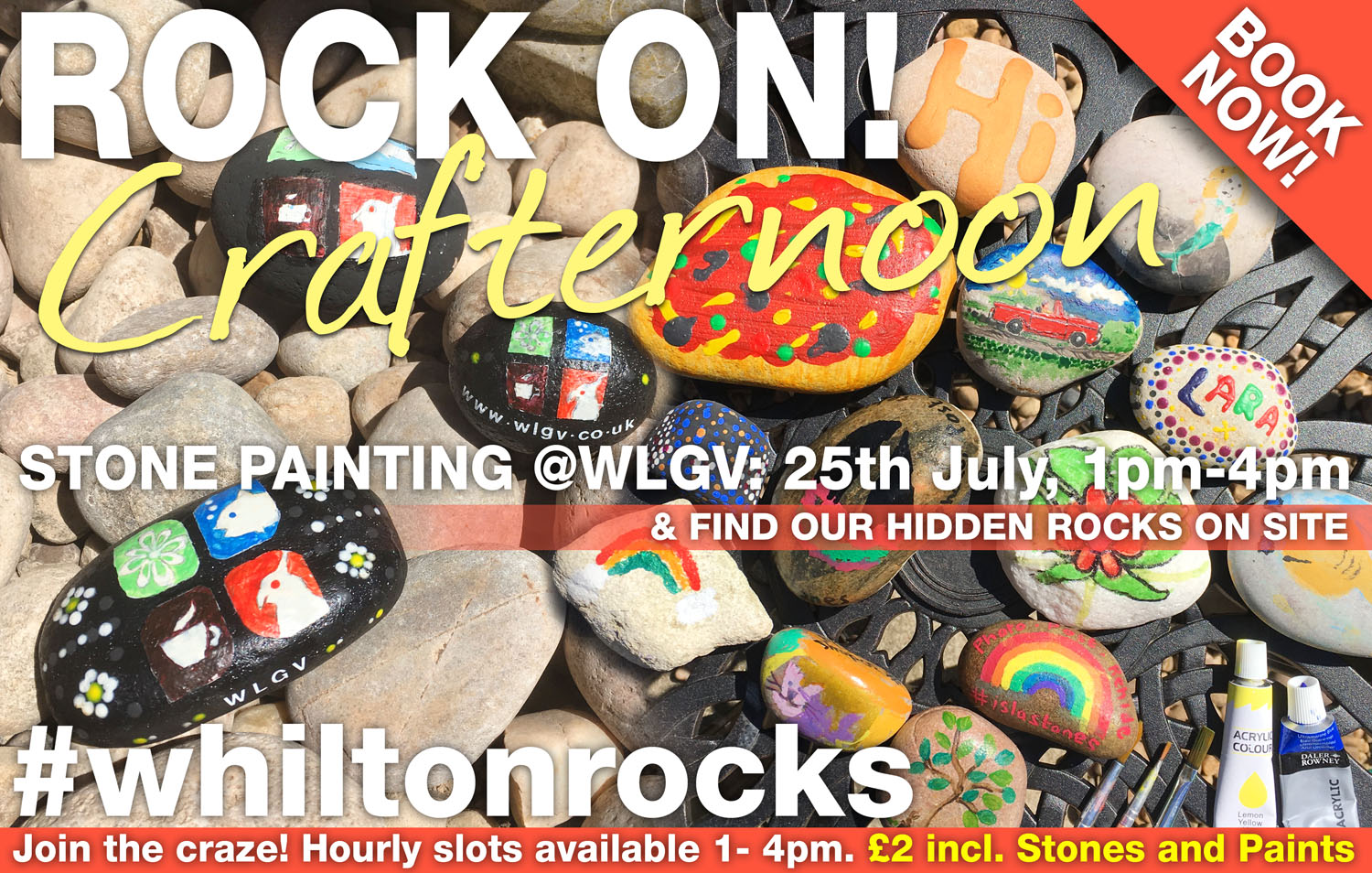 whilton rocks stone painting