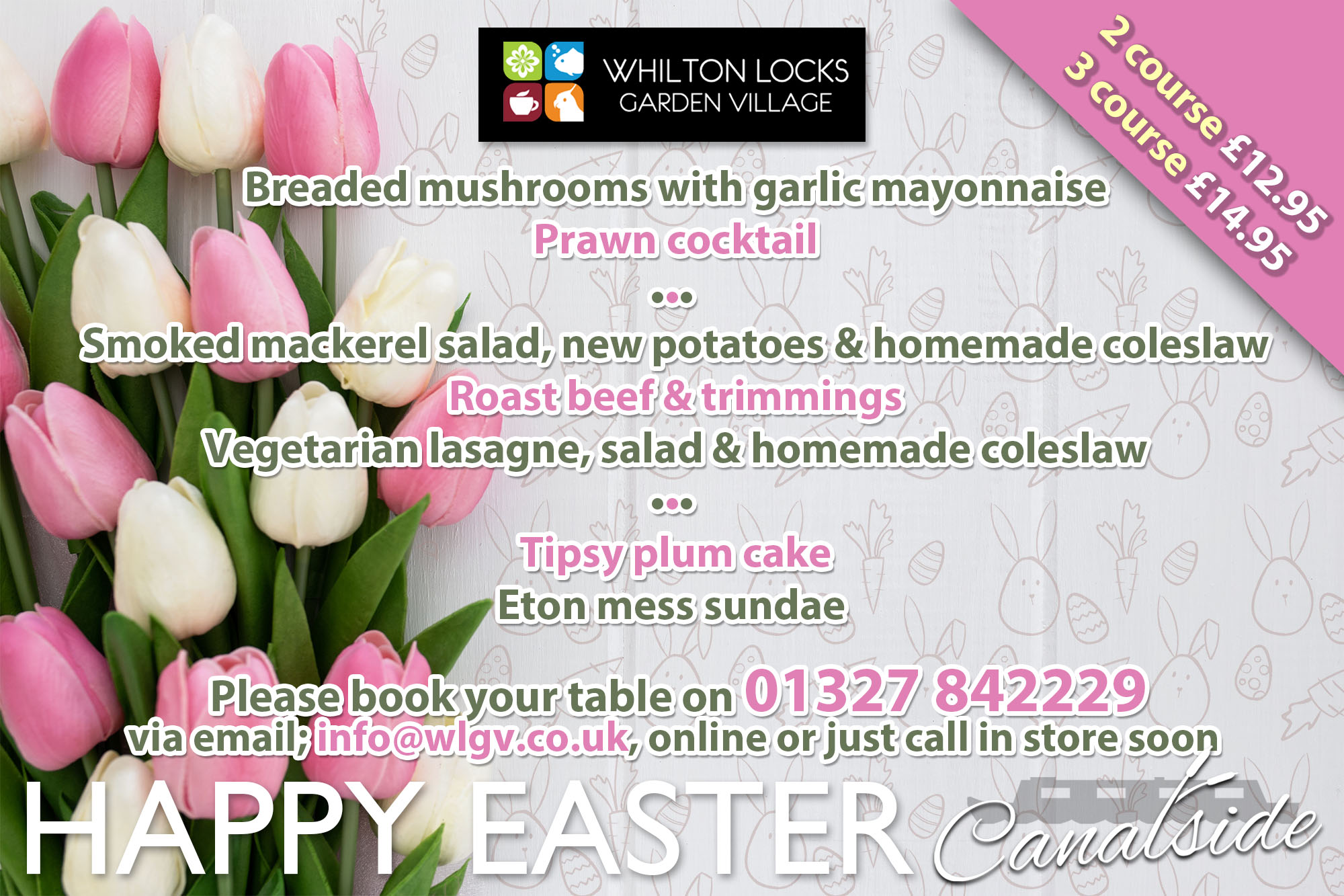 Easter eating out Northamptonshire
